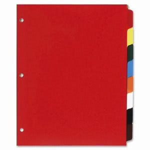 Business Source Non-Insertable 8-Tab Poly Indexes, Multicolor (BSN01810)