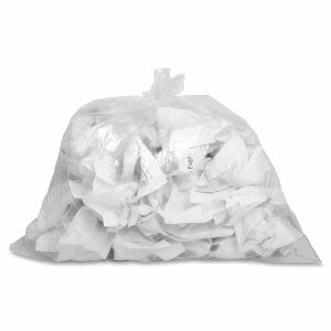 10 Gallon Clear Garbage Bags, 24x23, 0.6mil, 500 Bags (GJO01010)
