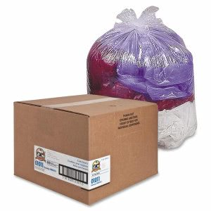 16 Gallon Clear Garbage Bags, 24x33, 0.6mil, 500 Bags (GJO01011)