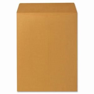"Sparco Catalog Envelope, Plain, 28lb, 9-1/2""x12-1/2"", 250/BX, Kraft (SPR09655)"