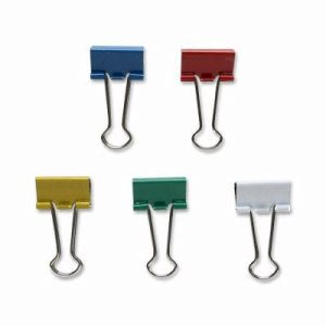 "Sparco Binder Clip,Small,3/4""Wide,3/8"" Capacity,36/BX,Assorted (SPR02270)"