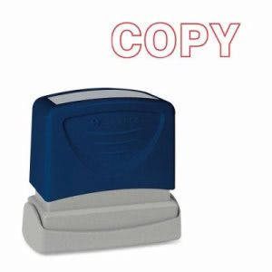 "Sparco COPY Title Stamp, 1-3/4""x5/8"", Red Ink (SPR60014)"