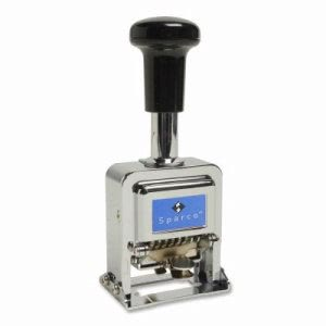 "Sparco Numbering Machine,6 Wheels,1/10""x1"" Impression,CE/BK (SPR80067)"