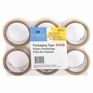 "Sparco Sealing Tape, 1.6 mil, 2""x55 Yards, 36/CT, Clear (SPR01530)"