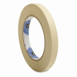 "Sparco Economy Masking Tape, 3"" Core, 1/2""x60 Yds, Natural Kraft (SPR64000)"