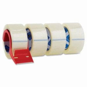 "Sparco Packing Tape,w/ Dispenser,3"" Core,3.0mil,2""x55 Yards,4/PK,CL (SPR64011)"
