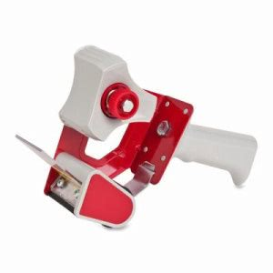 "Sparco Handheld Tape Dispenser, Holds 3"" Core Tapes, Red/Gray (SPR01750)"