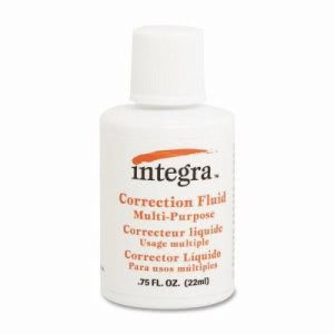 Integra Multipurpose Correction Fluid, 22ml, White, Each (ITA01539)