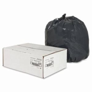 16 Gallon Black Garbage Bags, 24x31, 0.85mil, 500 Bags (NAT00988)