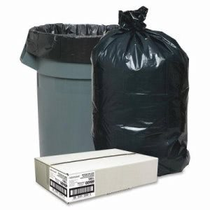 33 Gallon Black Garbage Bags, 33x39, 1.25mil, 100 Bags per Carton (NAT00989)