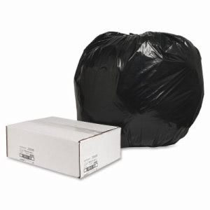 "Nature Saver Trash Can Liners,Rcycld,56 Gal,1.25mil,43""x48"",100/BX,BK (NAT00992)"