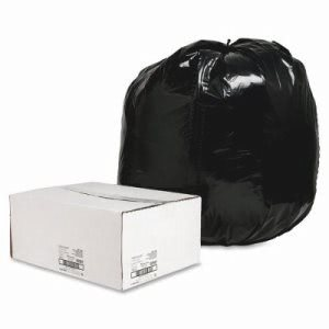 56 Gallon Black Garbage Bags, 43x48, 1.65mil, 100 Bags (NAT00997)