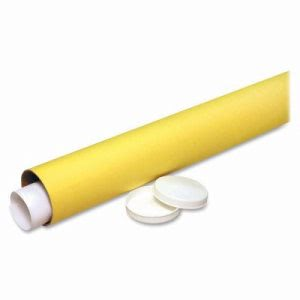 "Nature Saver Recycled Mailing Tube, 3""x31"", 25/CT, Yellow Kraft (NAT01511)"