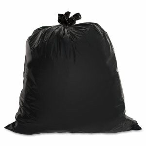 Genuine Joe 30 Gallon Black Garbage Bags, 30x36, 1.5mil, 100 Bags (GJO01532)