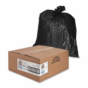 Genuine Joe 33 Gallon Black Garbage Bags, 33x40, 1.5mil, 100 Bags (GJO01533)
