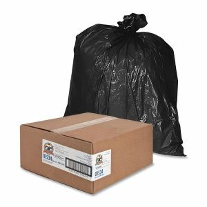 Genuine Joe 45 Gallon Black Garbage Bags, 39x46, 1.5mil, 50 Bags (GJO01534)