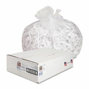 Genuine Joe 33 Gallon Clear Trash Bags, 33x40, 11mic, 500 Bags (GJO01757)