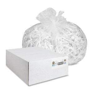 Genuine Joe 60 Gallon Clear Trash Bags, 38x60, 17mic, 200 Bags (GJO01759)