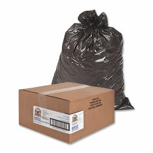 Genuine Joe 60 Gallon Brown Garbage Bags, 38x58, 0.8mil, 100 Bags (GJO02152)