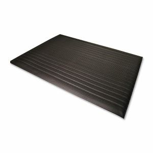 Genuine Joe Anti-Fatigue Mat, Vinyl Foam, Beveled Edge, 3'x5', Black (GJO53351)