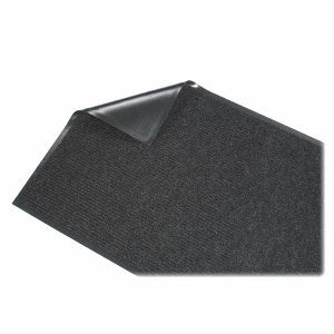 "Genuine Joe Ribbed Indoor Wiper Mat, 36"" x 60"", Charcoal, Each (GJO55351)"