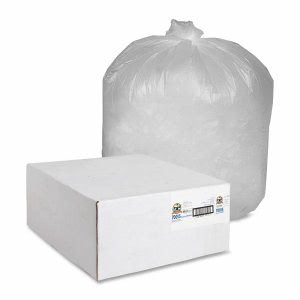 56 Gallon Translucent Trash Bags, 43x46, 14mic, 200 Bags (GJO70015)