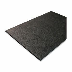 Genuine Joe Anti-Fatigue Mat, Nitrile Rubber/Vinyl, 2'x3', Black (GJO70370)