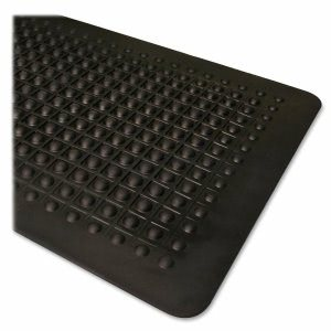 "Genuine Joe Rubber Anti-Fatigue Mat, 36"" x 60"", Black, Each (GJO70373)"