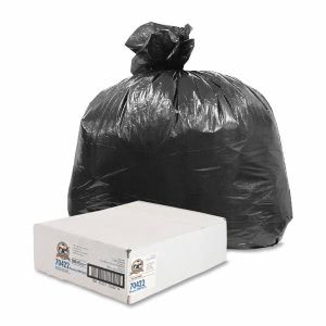56 Gallon Black Garbage Bags, 43x47, 0.58mil, 200 Bags (GJO70422)