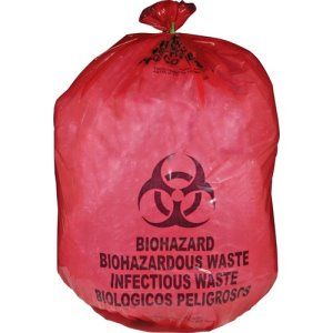 Medegen MHMS Red Biohazard Waste Bags, 25 Gallon, 50 Bags (MHMMDRB142755)
