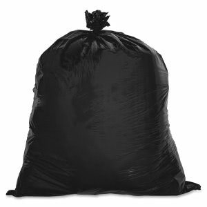 16 Gallon Black Garbage Bags, 24x33, 0.6mil, 500 Bags (GJO02148)