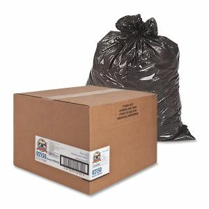 33 Gallon Black Garbage Bags, 33x39, 0.65mil, 250 Bags (GJO02150)