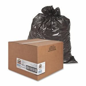 Genuine Joe 45 Gallon Brown Garbage Bags, 40x46, 0.6mil, 250 Bags (GJO02151)