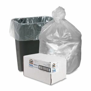 10 Gallon Translucent Trash Bags, 24x24, 5mic, 1000 Bags (GJO70010)