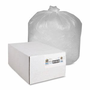 33 Gallon Translucent Trash Bags, 33x39, 9mic, 500 Bags (GJO70012)