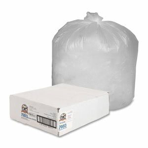 45 Gallon Translucent Trash Bags, 40x46, 10mic, 250 Bags (GJO70013)