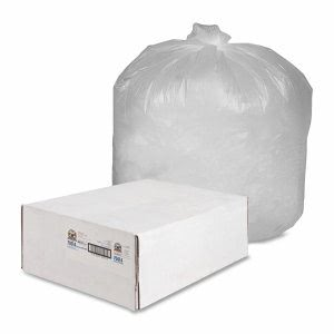 Genuine Joe 70014 Economy 60 Gallon Can Liners, Clear, 200 Bags (GJO70014)