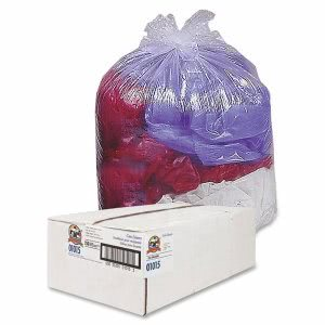 45 Gallon Clear Garbage Bags, 40x46, 0.63mil, 250 Bags (GJO01015)