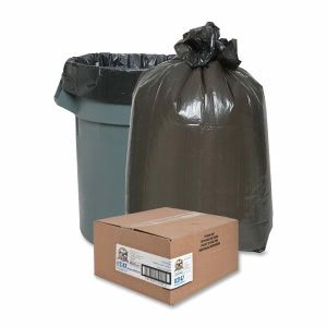 Genuine Joe 10 Gallon Black Garbage Bags, 24x23, 0.6mil, 500 Bags (GJO02147)