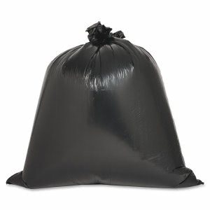 Genuine Joe 33 Gallon Black Garbage Bags, 33x39, 0.6mil, 60 Bags (GJO03339)