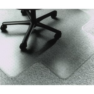 "SKILCRAFT Floor Mat, Rectangular,No Lip,PVC,Low/Med-Pile,60""x60"",Clear (NSN1516518)"