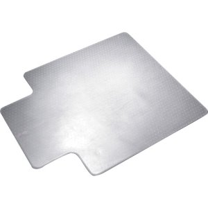 "SKILCRAFT PVC Chairmat, F/ Low - Medium Pile, 20""x12"" Lip, 45""x53"", CL (NSN4576054)"
