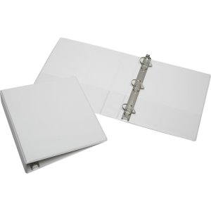 "SKILCRAFT Slant D-Ring View Binder, 1-1/2"" Capacity, White (NSN3856711)"