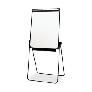 "SKILCRAFT Adjustable Easel Board, Dry Erase, 29""x38"", White, 1 Each (NSN4244867)"