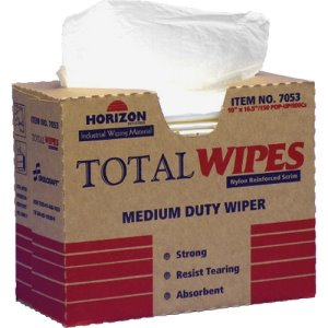 "SKILCRAFT All-Purpose Wipers, Med Duty, 4-ply, 10""x16-1/2"", 150/BX, WE (NSN4487053)"
