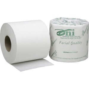 "SKILCRAFT Toilet Tissue,1-Ply, 4""x4"", 1200 Sht/Roll,80 RL/BX, WE (NSN5303770)"