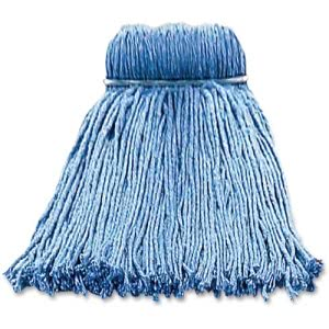 Layflat Screw-type Cut-end Wet Mop Head, Blue, 1 Each (IMP26116)