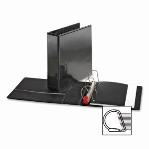 "Sparco Locking D-Ring View Binder,3 ""Capacity,11""x8-1/2"",Black (SPR26962)"