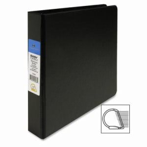 "Sparco Slant-D Ring Binder,w/Sheet Lifter,1-1/2"" Cap,11""x8-1/2"",BK (SPR26968)"