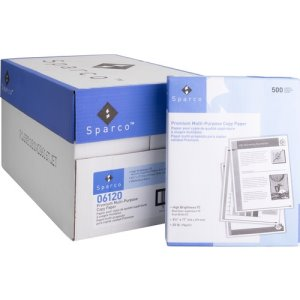 "Sparco Copy Paper, 92 GE/112 ISO, 20 Lb, 8-1/2""x11"", 10 RM/CT (SPR06120CT)"